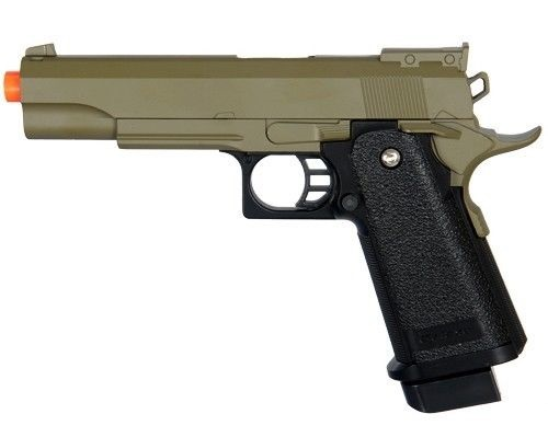 Full Metal Body AIRSOFT Spring Pistol Hi-Capa 1911 OD Green Two Tone 300 FPS