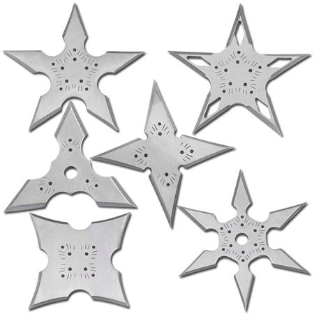 Assassin Creed 6 Pack Throwing Star Set With Pouch