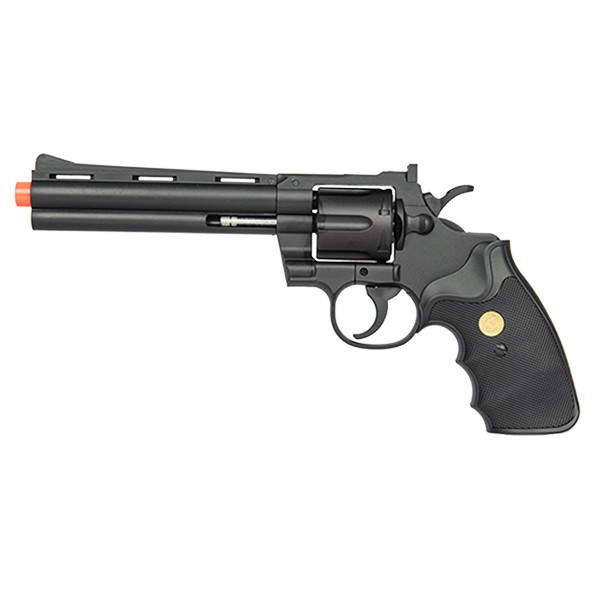 G36B Spring Powered Airsoft Revolver Old West BLACK