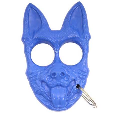 Hunting K 9 Self Defense Keychain Blue