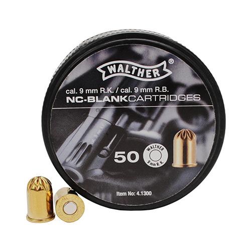 Walther Revolver Half Load Blank Cartridges 9MM RK 50 Cartridges Crimped
