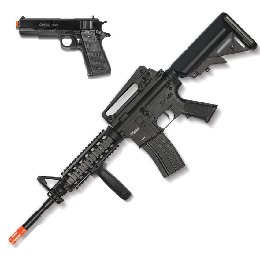 SIG SAUER Patrol Full Auto Electric AEG Airsoft Rifle and Pistol Kit