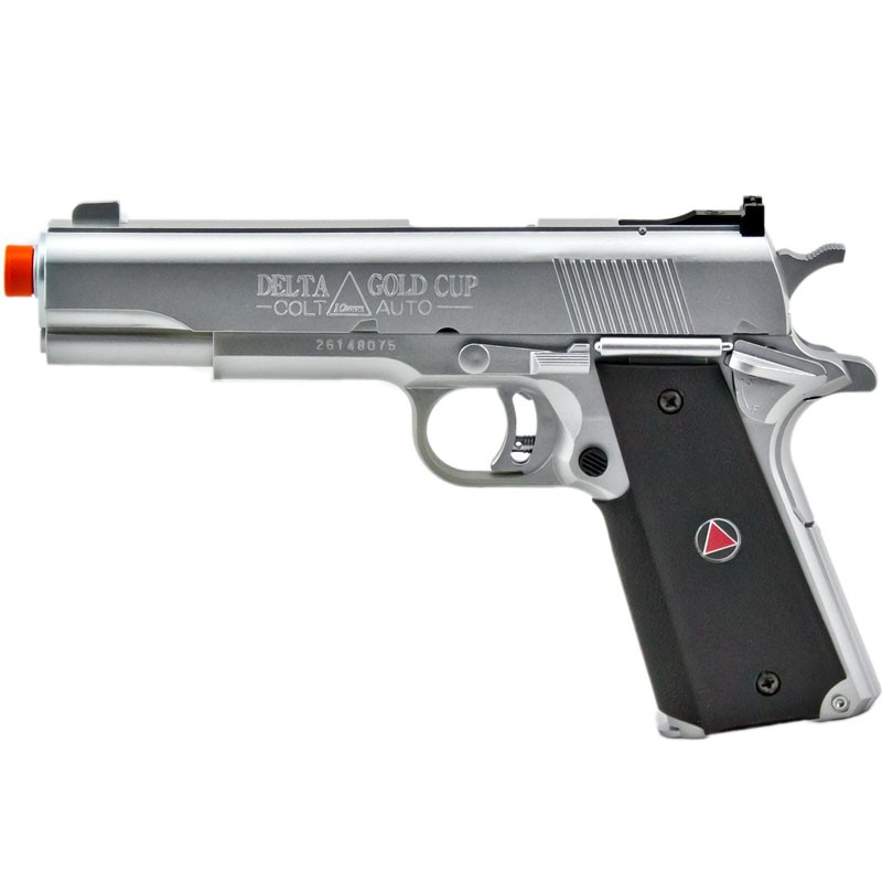 315 Fps Colt 1911 Silver Delta Elite Airsoft Pistol Spring Action