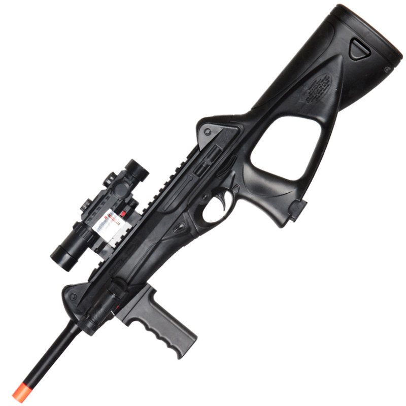 M182 Spring Rifle With Laser FlashLight and Faux Scope FPS 250