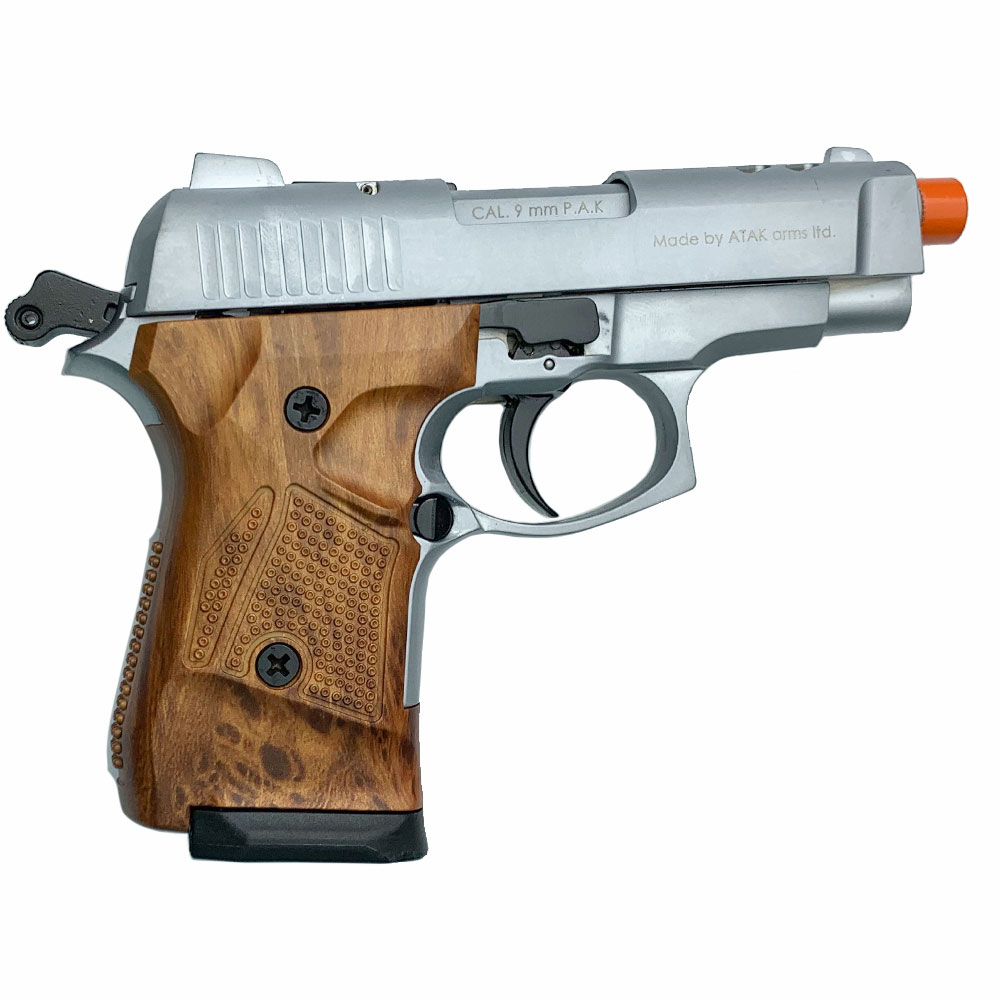Zoraki M2914 Silver With Simulated Wood Grips 9mm
