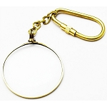 Real Brass 40MM Magnifying Glass KeyChain Key Ring