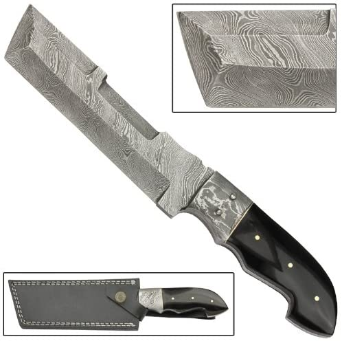 Sultan Full Tang Fixed Blade Hunting Damascus Steel Knife