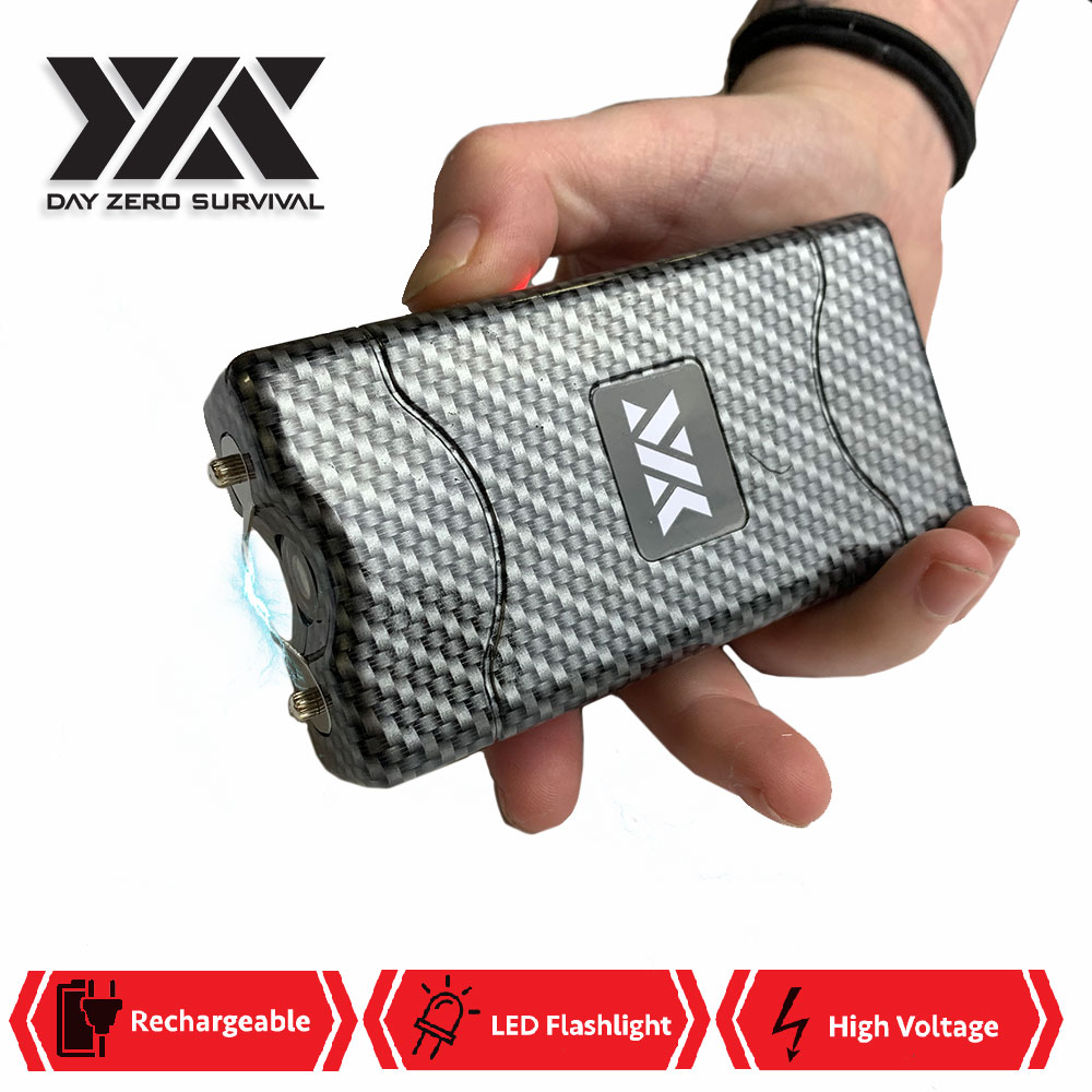 DZS 10 Million Volt Self Defense Carbon Fiber Stun Gun