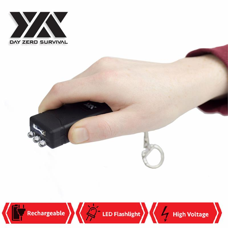 DZS Mini Keychain Stun Gun LED Flashlight