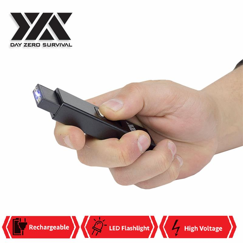 Micro USB Self Defense Black Stun Gun With LED Light