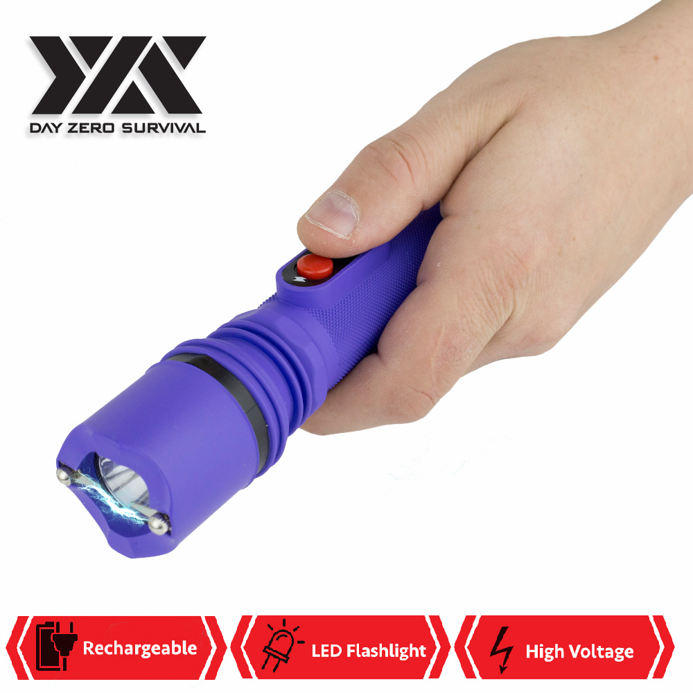 DZS Powerful 10 Million Volt LED Flashlight Stun Gun