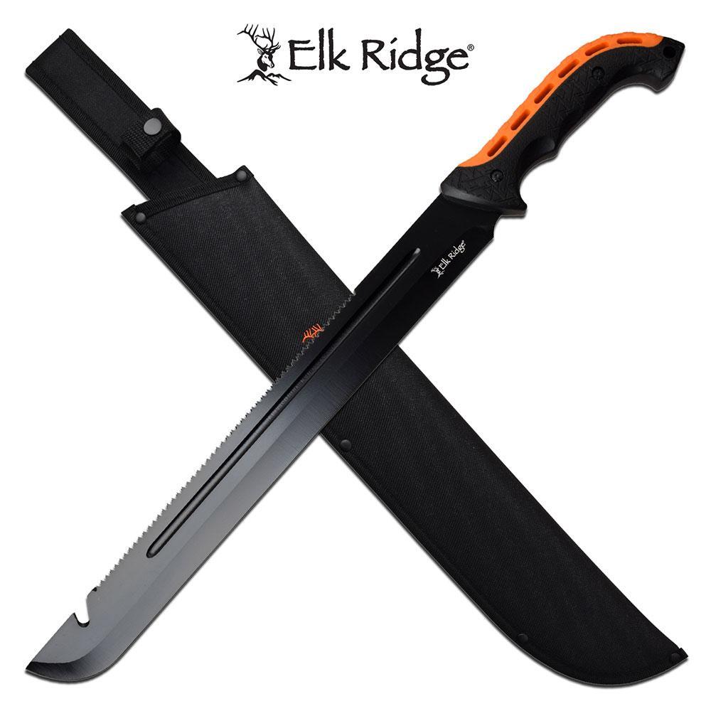 Elk Ridge 23 Inch Full Tang Fixed Blade Machete Knife SAW Back Blade