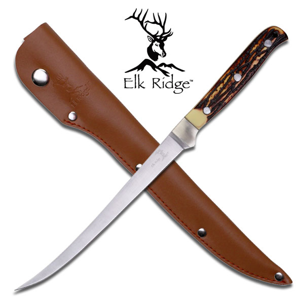 ''Fillet Knife 12'''' Fixed Blade Bone Handle Full Tang FISHING''
