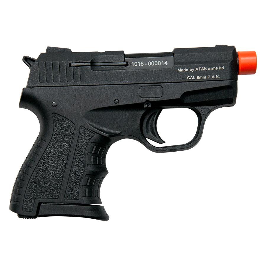 Zoraki M807 Black Finish - 8MM Front Firing Blank Pistol