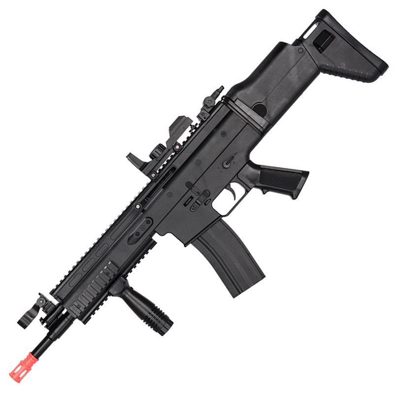 airsoft rifle scar fn dot gun sight mk16 6mm fps guns under co2 sniper pistol assault colt 1911 rail blowback