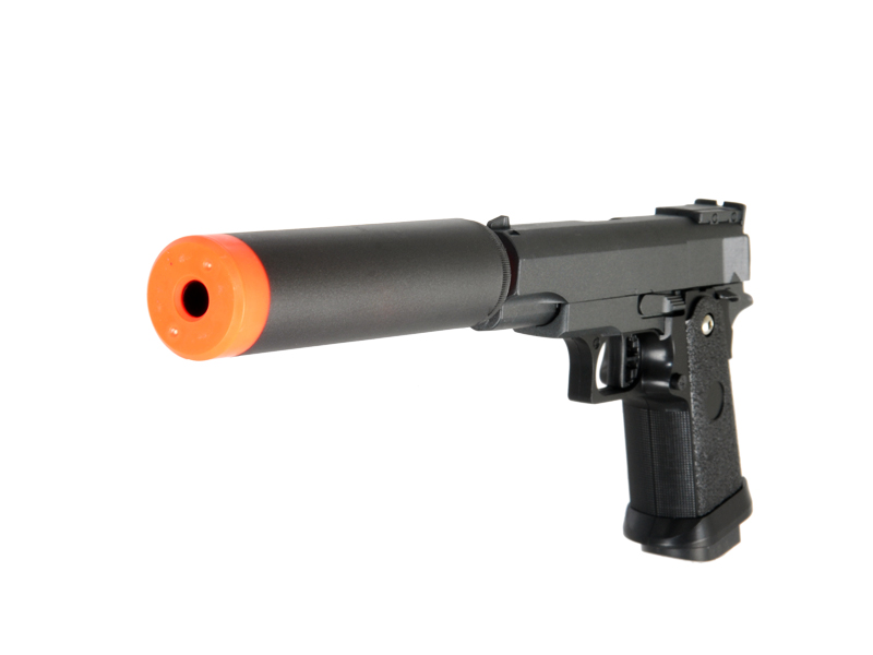 Spring G10A Rapid Fire 6mm Pistol FPS 200 Airsoft Gun With Silencer