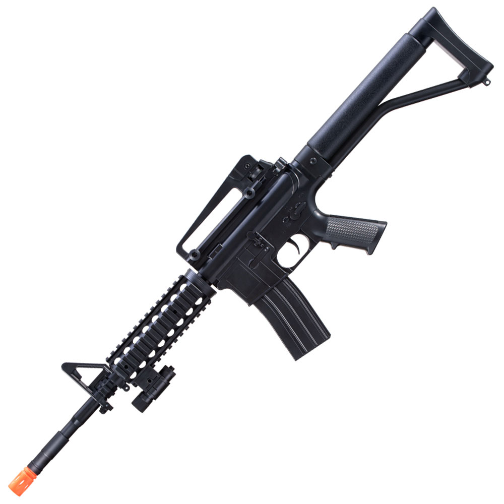 M-16A Spring Powered Airsoft Rifle with 2 Magazines and 2 Stocks