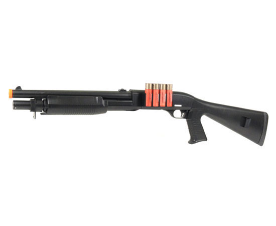 400 FPS AGM Airsoft M500 M183A2 Tactical Shell Fed Airsoft Shotgun