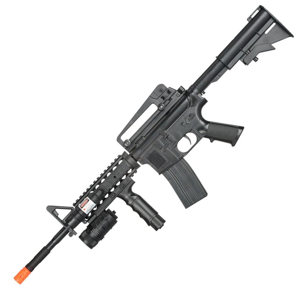 P1158B Spring Airsoft M4 M4A1 Replica Carbine Assault Rifle with Foregrip