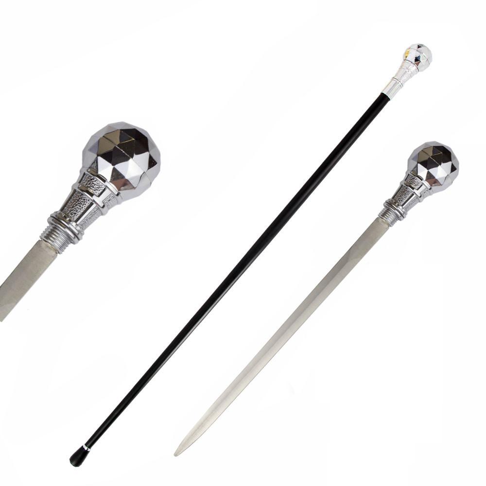 The Kingpin Silver Handle Walking Cane Sword