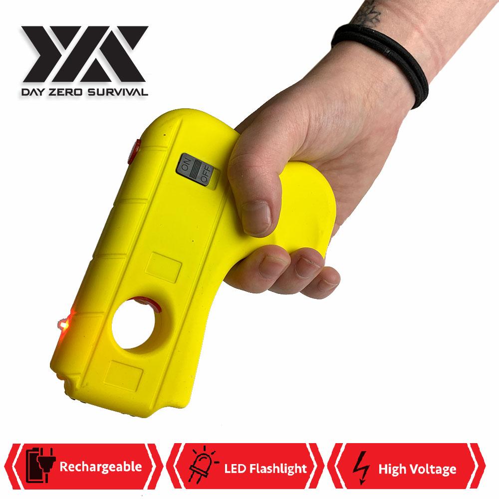 DZS Yellow Hand Pistol Stun Gun