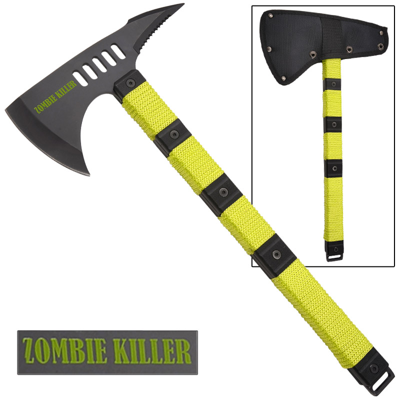 Zombie Killer Tactical Throwing Axe With Sheath - 14.5 Inch Overall