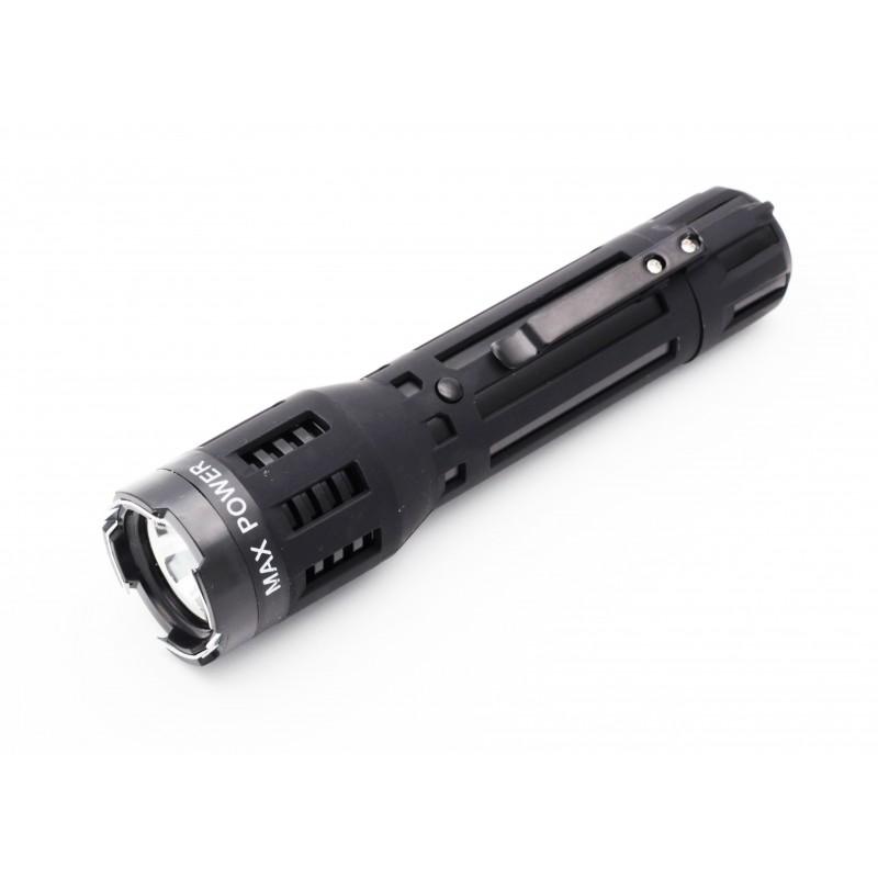 Self Defensive Predator Black Powerful Flashlight Stun Gun
