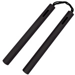 Nunchaku - 14 Inch Black Octagon Wood Nunchucks