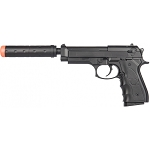 G52A M9 Airsoft Spring Pistol with Mock Suppressor