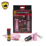 3 Million Volt Concealed Lipstick Stun Gun + Pepper Spray Gift Set Pink