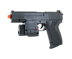 M555AF FPS-190 Spring Airsoft Pistol with Flashlight, Laser