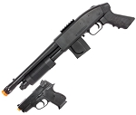 Mossberg 590 Airsoft Pistol Grip Shotgun Kit with Spring .45 Pistol and 500 BBs
