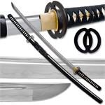 Hand Forged Carbon Steel Samurai Sword With Musashi Tsuba Functional
