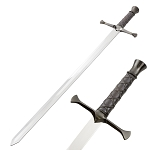 Medieval Crusader Fantasy Arya Sword With Wall Plaque