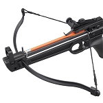 50 lbs Pistol Fiberglass Crossbow With 5 Arrows