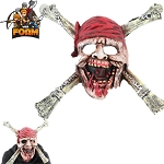 Pirate Skull CrossBones Mask For Cosplay Halloween Masquerade Dead Men