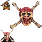 Dead Men Pirate Skull CrossBones Mask For Cosplay Halloween Masquerade