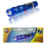 ALPHA FORCE Stun Gun 10 Million Volt Rechargeable LED Flashlight Blue
