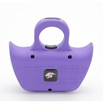 Mini Jogger Purple Sting Ring Self Defense Rechargeable Stun Gun with Whistle
