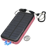 3 In 1 Solar Rechargeable Pink Stun Gun, Flashlight and Power Bank