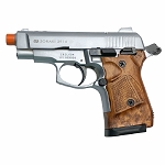 Zoraki M2914 Silver With Simulated Wood Grips 9mm Front Firing Blank Gun