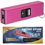 Micro USB Self Defense Pink Stun Gun Rechargeable LED Light Keychain
