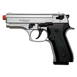 COUGAR Front Firing Blank Pistol Nickel Finish