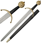 Knights Medieval War Sword With Scabbard