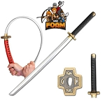 Foam Fantasy Samurai Katana Sword Chrome Finish Blade Cosplay Costume LARP