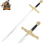 Foam Padded Mason Knights Templar Crusader Sword Costume Prop Cosplay