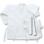 8 oz Cotton Karate Student Uniform White With Belt Size 0