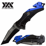 Military Day Zero Survival Rescue Folding Spring Assisted Open Pocket Knife