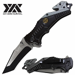 DZS Tactical POW MIA Rescue Folding Spring Assisted Open Pocket Knife