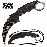 Day Zero Survival Tactical Combat Karambit Neck Knife Fixed Blade 7.5